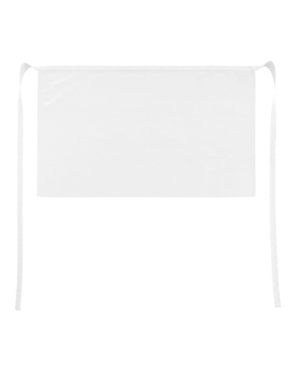 Jassz Bistro Brussels Short Apron in White (Product Code: JG14)