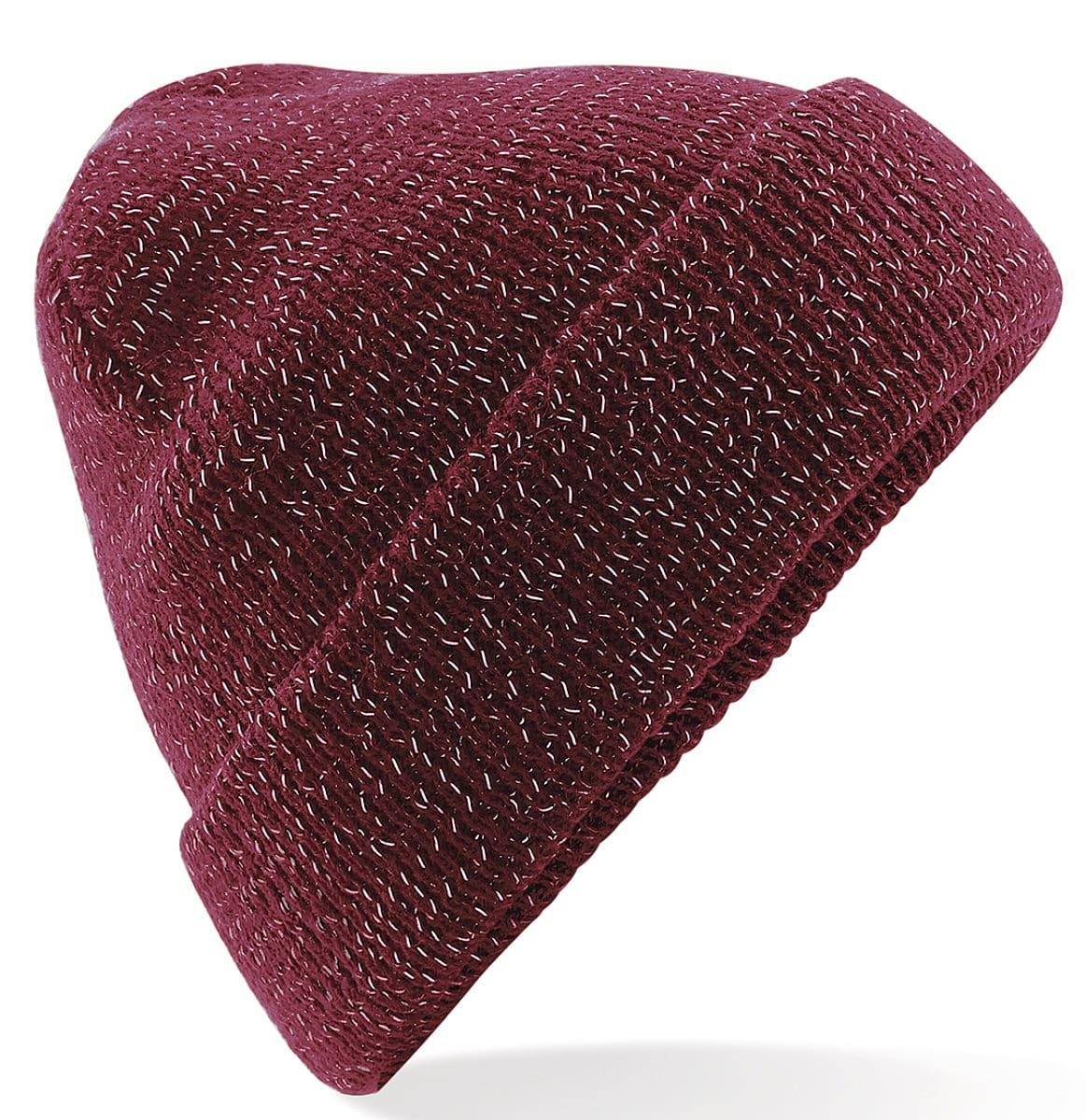 Beechfield Reflective Beanie Hat in Burgundy (Product Code: B407)