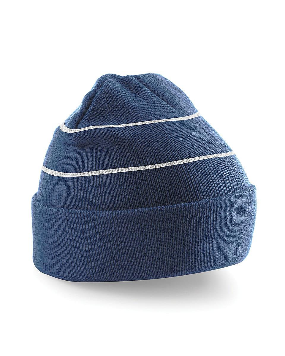 Beechfield Enhanced-Viz Knitted Hat in French Navy (Product Code: B42)