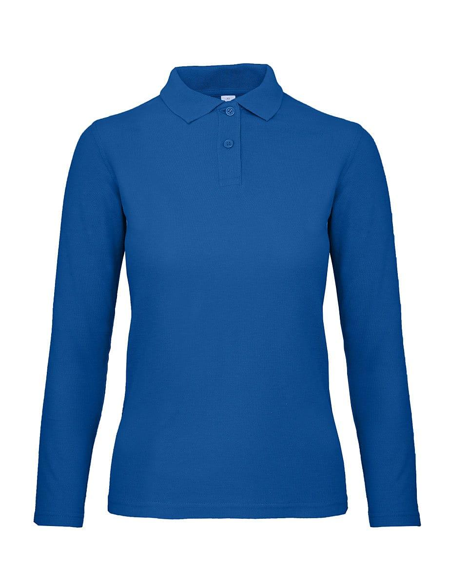 B&C Womens ID.001 Long-Sleeve Polo Shirt in Royal Blue (Product Code: PWI13)