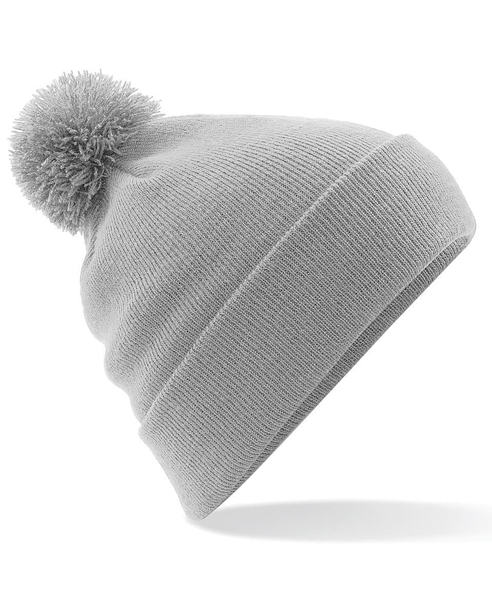 Beechfield Original Pom Pom Beanie Hat in Light Grey (Product Code: B426)