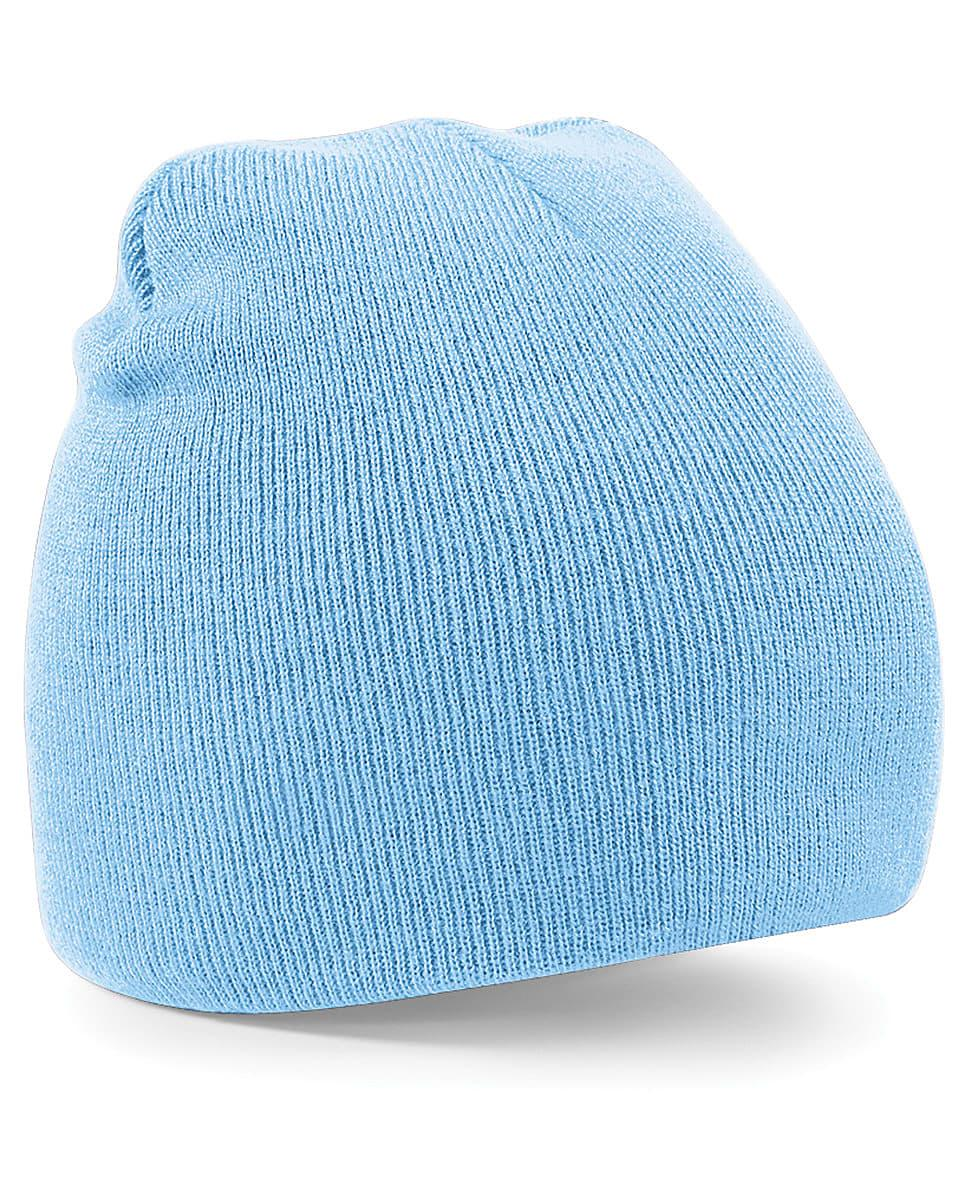 Beechfield Original Pull-On Beanie Hat in Sky Blue (Product Code: B44)