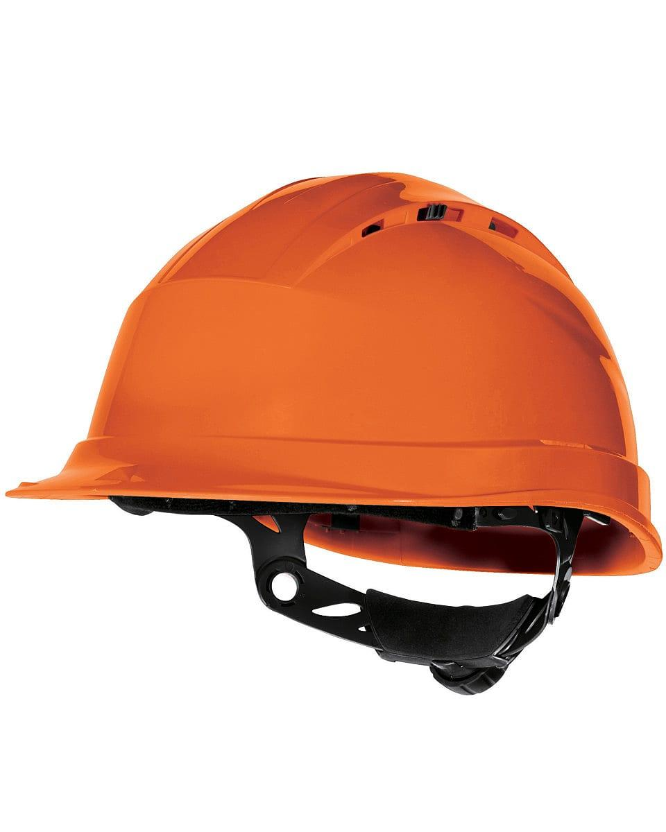 Delta Plus Quartz Rotor Safety Helmet in Orange (Product Code: QUARTZ4)