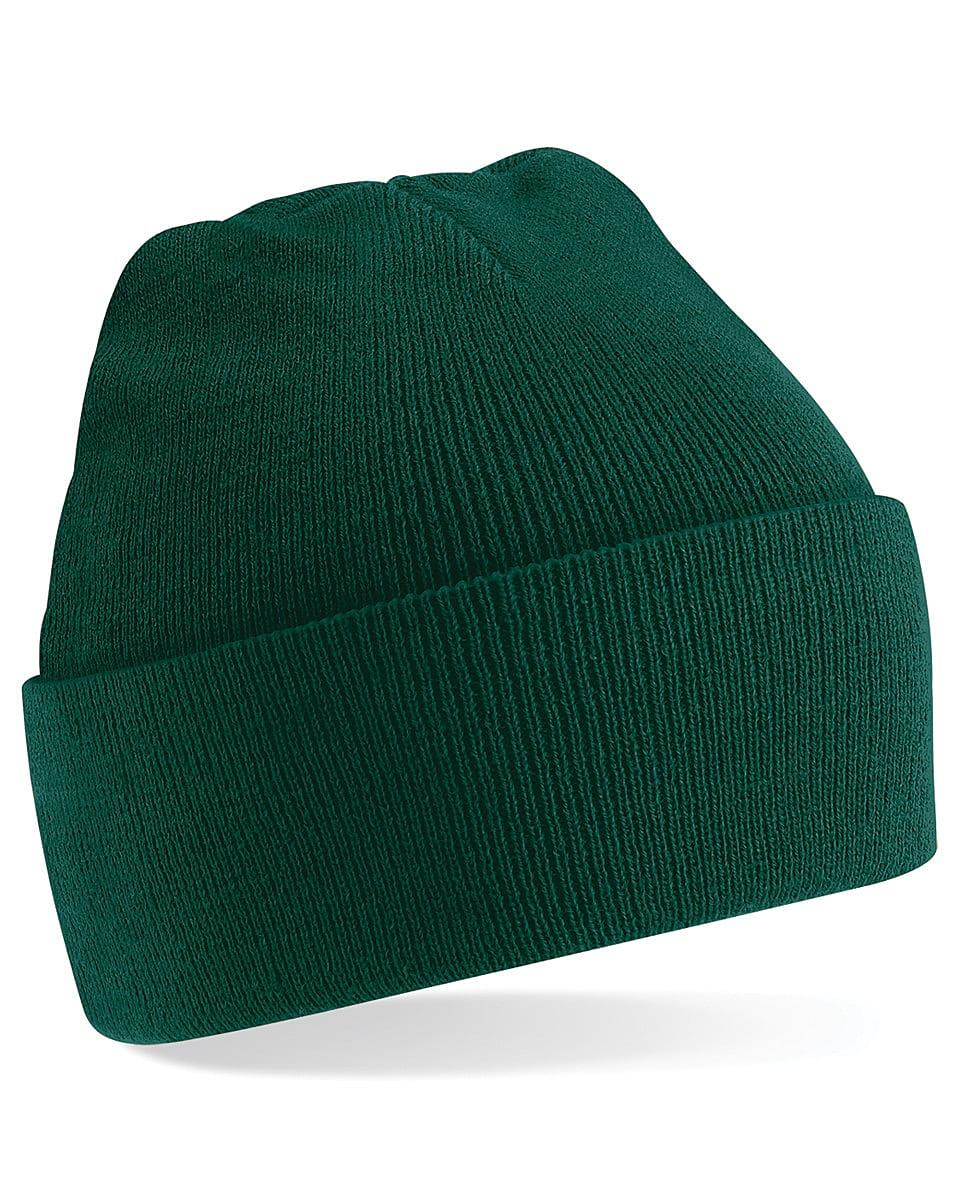 Beechfield Original Cuffed Beanie Hat in Bottle Green (Product Code: B45)