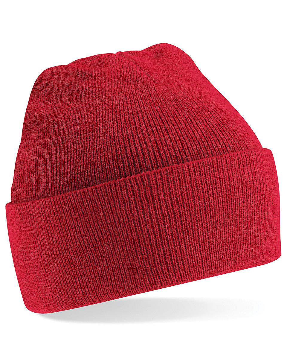 Beechfield Original Cuffed Beanie Hat in Classic Red (Product Code: B45)