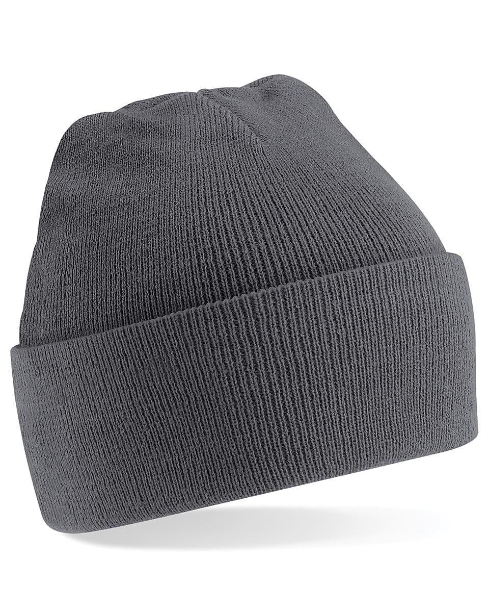 Beechfield Original Cuffed Beanie Hat in Graphite (Product Code: B45)