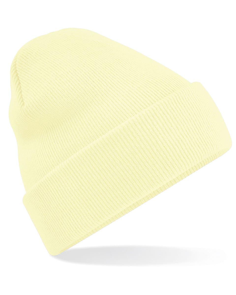 Beechfield Original Cuffed Beanie Hat in Pastel Lemon (Product Code: B45)
