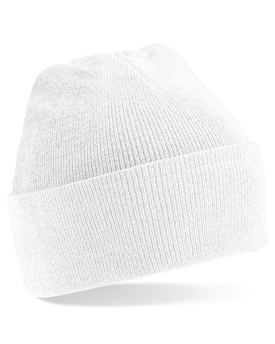 Beechfield Original Cuffed Beanie Hat in White (Product Code: B45)
