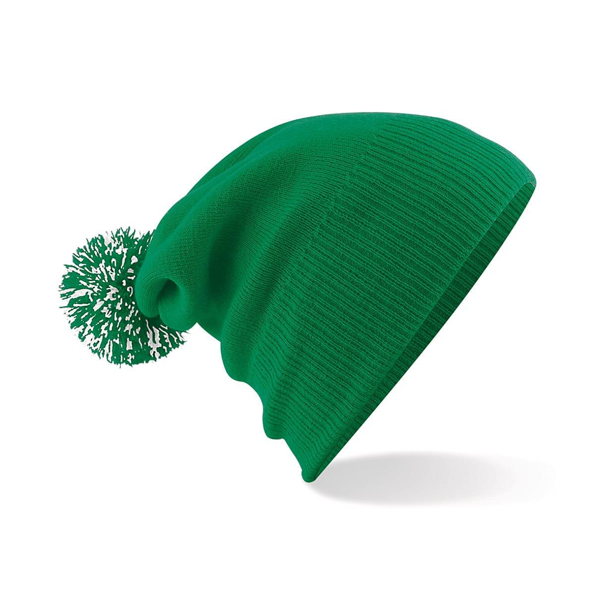Beechfield Snowstar Beanie Hat in Kelly Green / White (Product Code: B450)