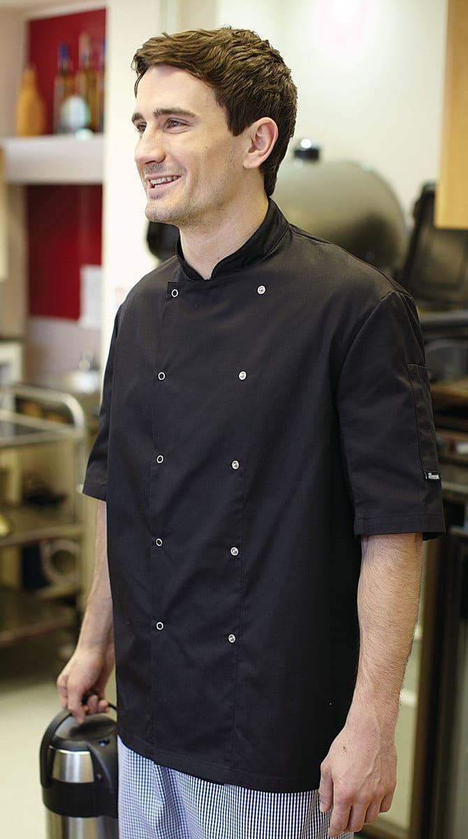 Dennys AFD Chefs Jacket in Black (Product Code: DD08SAFD)