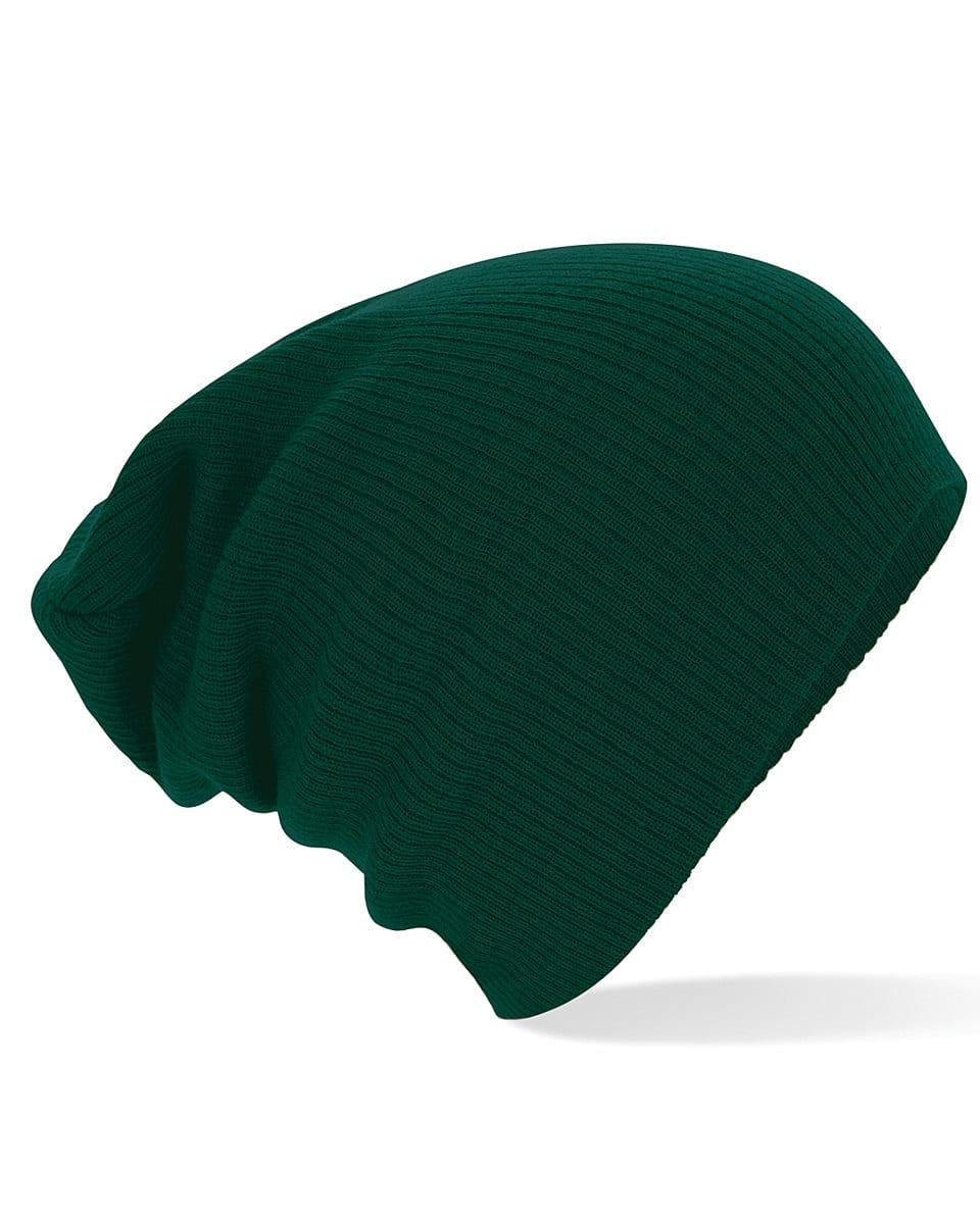 Beechfield Slouch Beanie Hat in Bottle Green (Product Code: B461)