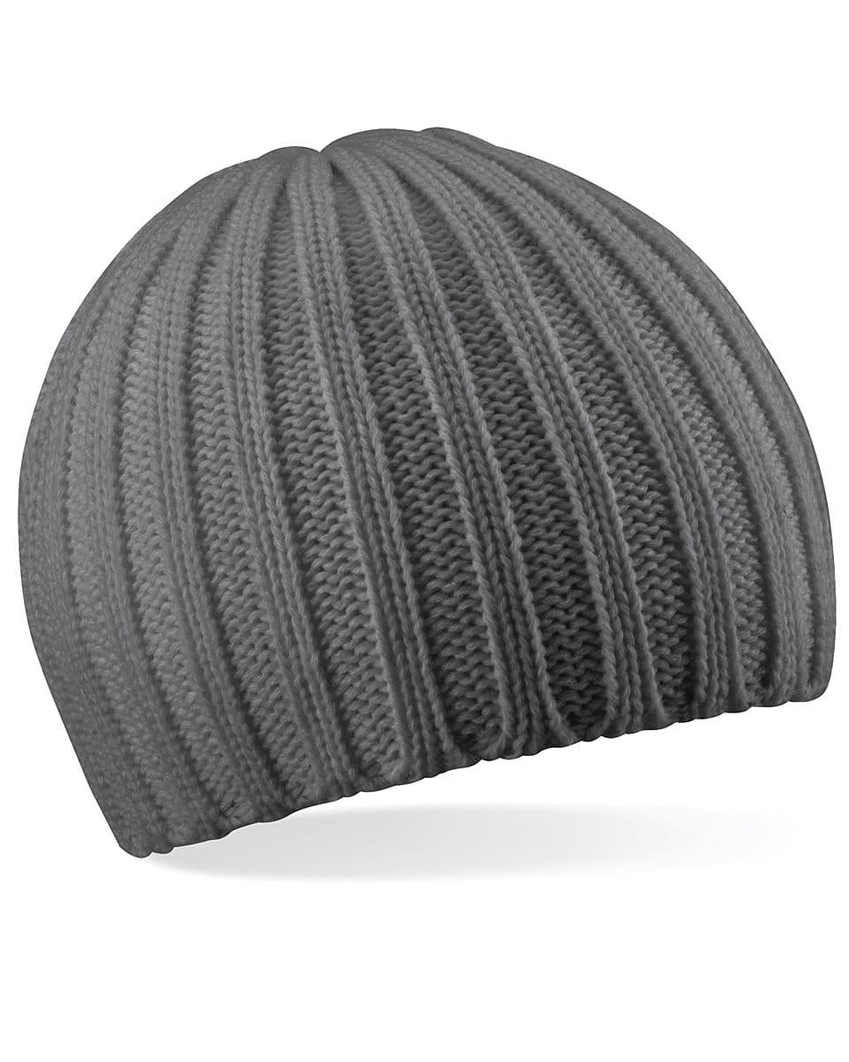 Beechfield Chunky Knit Beanie Hat in Smoke (Product Code: B462)
