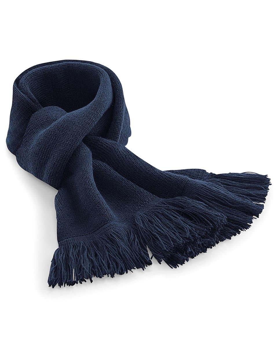 Beechfield Classic Knitted Scarf in French Navy (Product Code: B470)