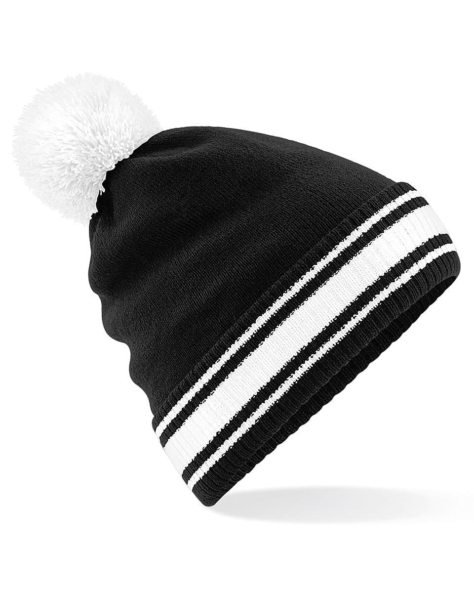 Beechfield Stadium Beanie Hat in Black / White (Product Code: B472)