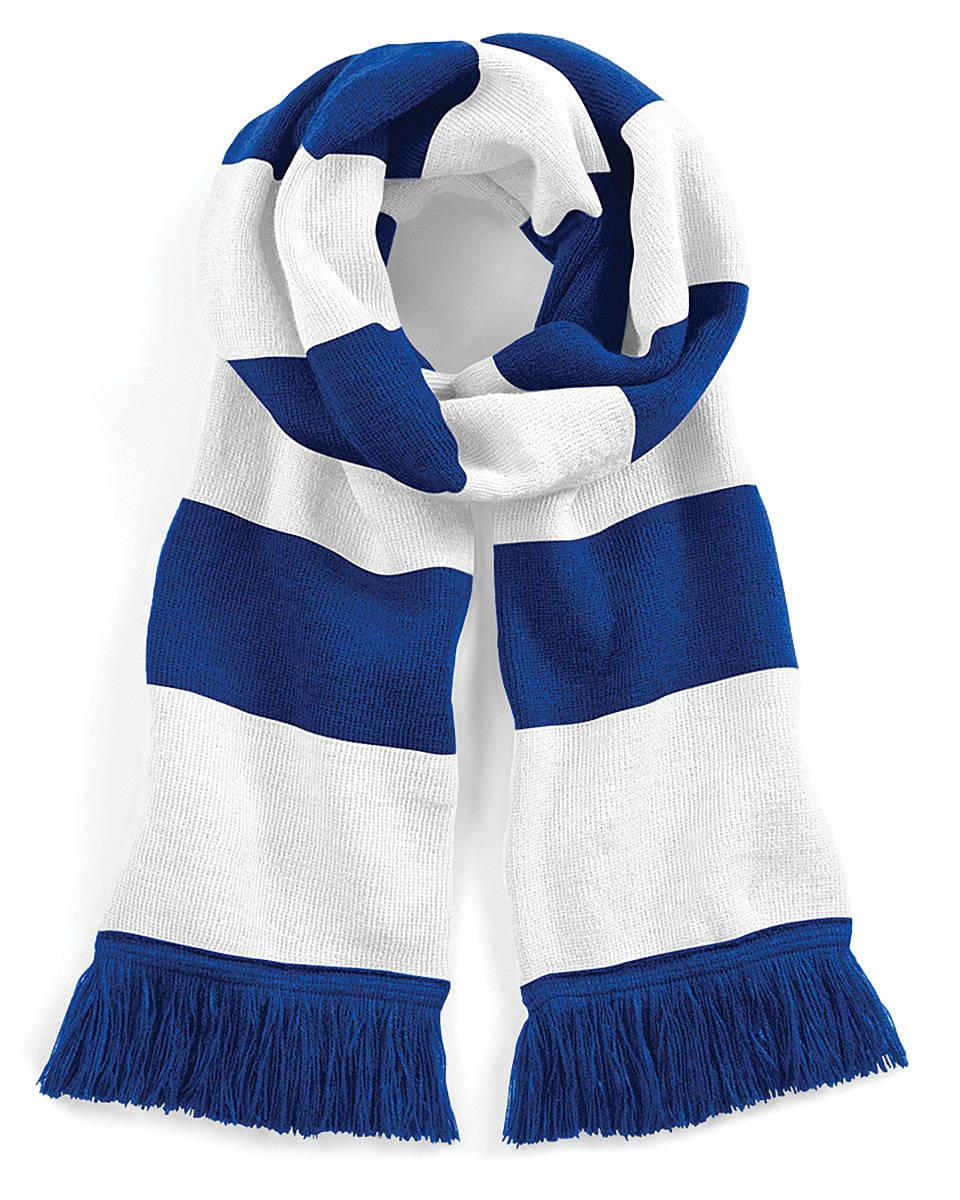 Beechfield Varsity Scarf in Bright Royal / White (Product Code: B479)