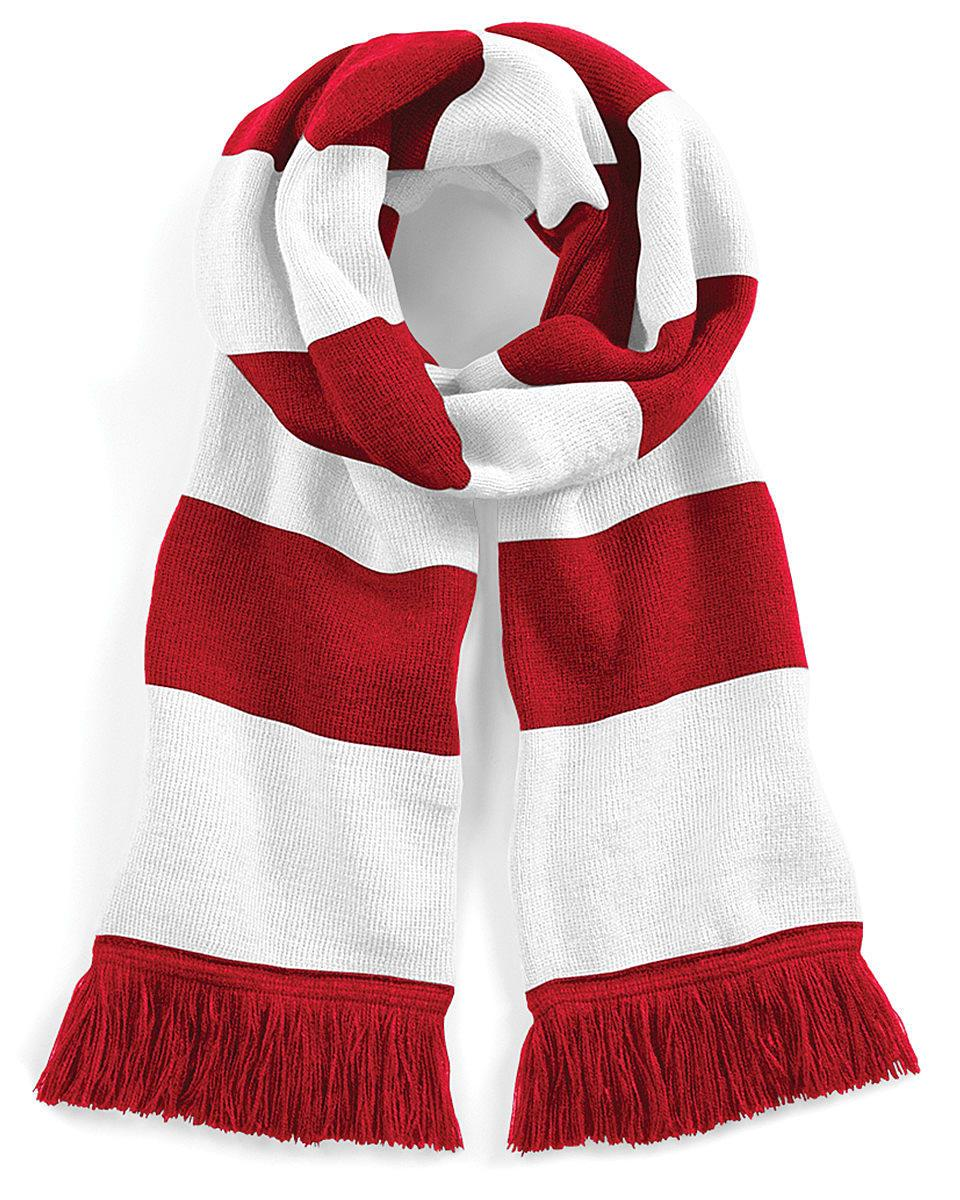 Beechfield Varsity Scarf in Classic Red / White (Product Code: B479)