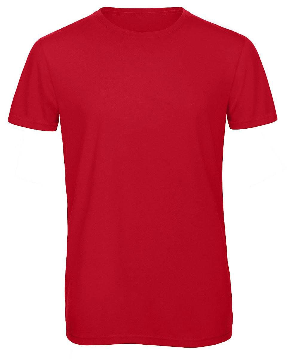 B&C Mens Inspire Triblend T-Shirt in Red (Product Code: TM055)