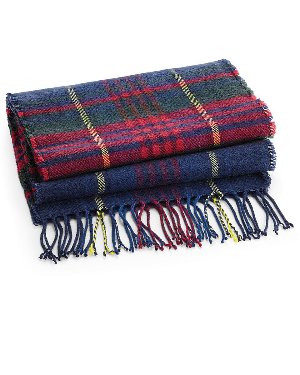 Beechfield Classic Check Scarf in Blue Check (Product Code: B489)