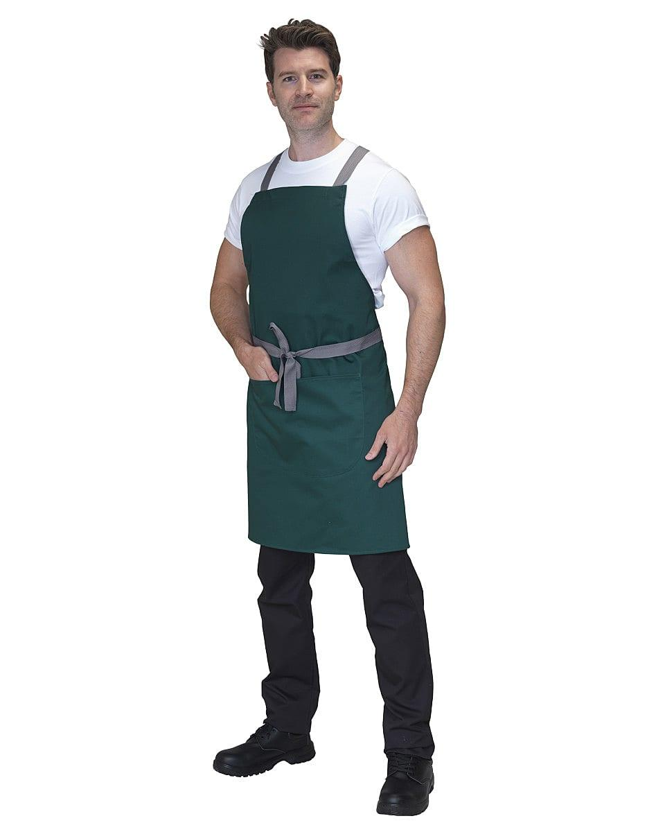 Dennys Cross Back Apron in Bottle Green (Product Code: DP130)