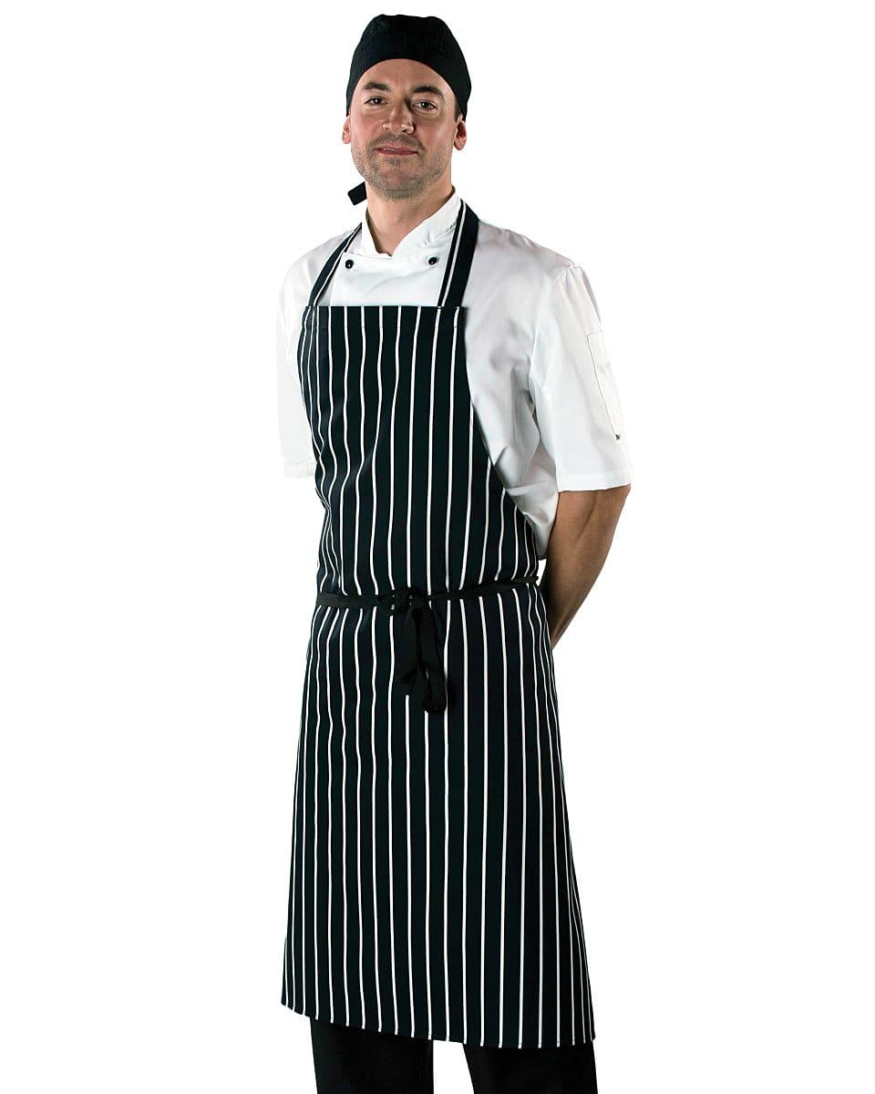 Dennys Cotton Striped Butchers Apron in Red / White (Product Code: DP85)