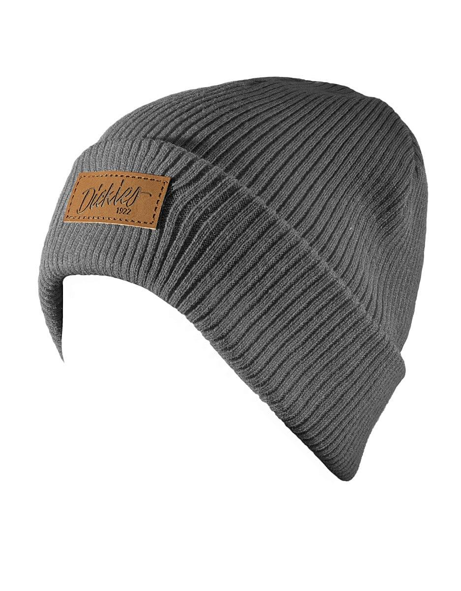 Dickies Evadale Branded Beanie Hat in Grey (Product Code: DT8003)