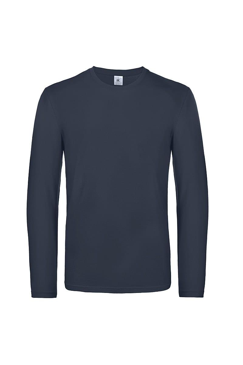 B&C Mens E190 Long-Sleeve Jersey in Navy Blue (Product Code: TU07T)