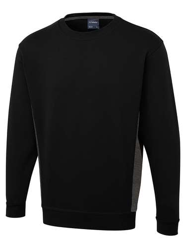 Uneek 280GSM Two Tone Crew Neck Sweatshirt