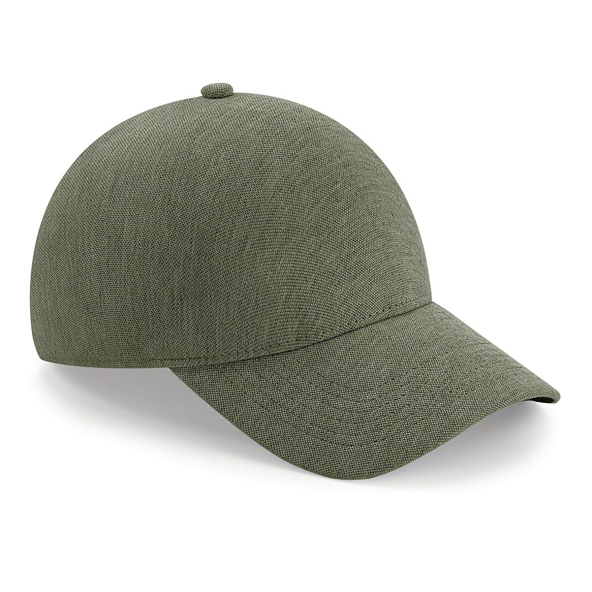 Beechfield Seamless Athleisure Cap in Heather Olive (Product Code: B556)