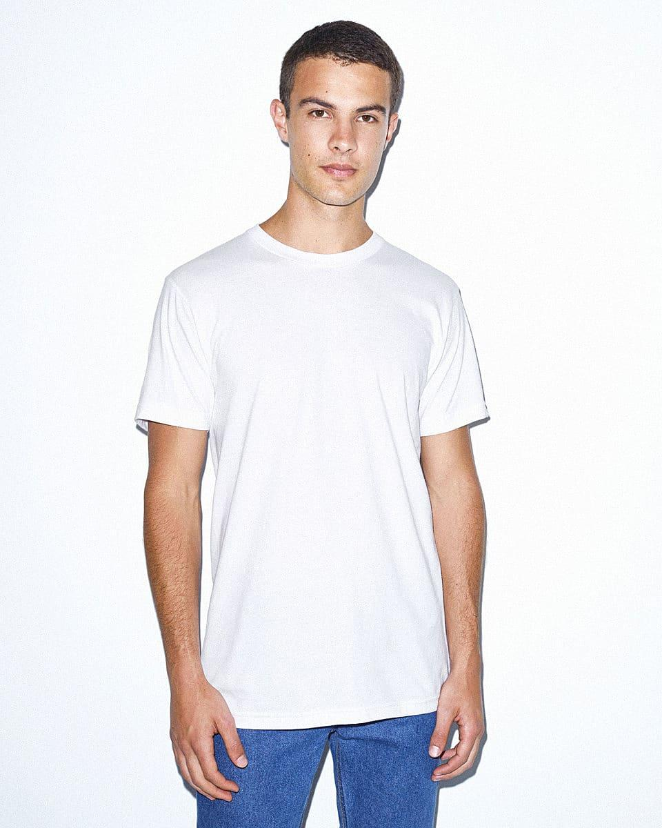 American Apparel Unisex Organic T-Shirt in White (Product Code: 2001ORGW)