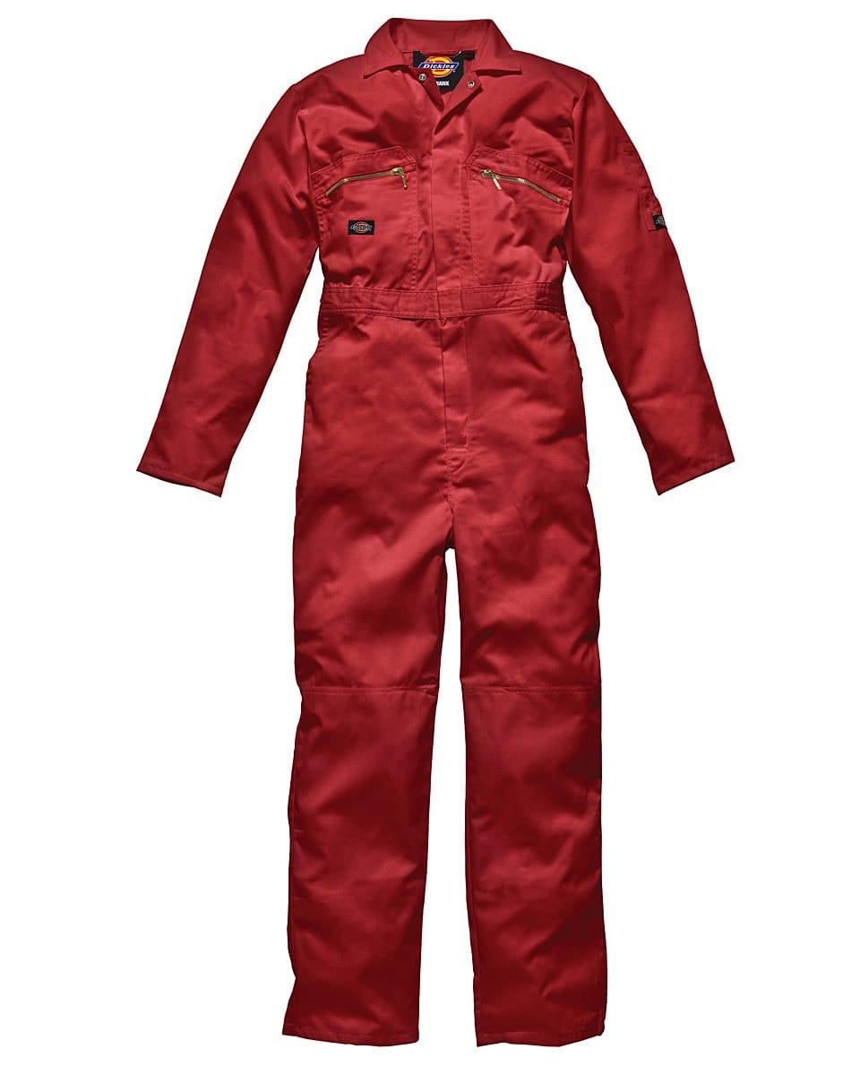 Dickies Redhawk Zip Front Coverall Tall in Red (Product Code: WD4839T)