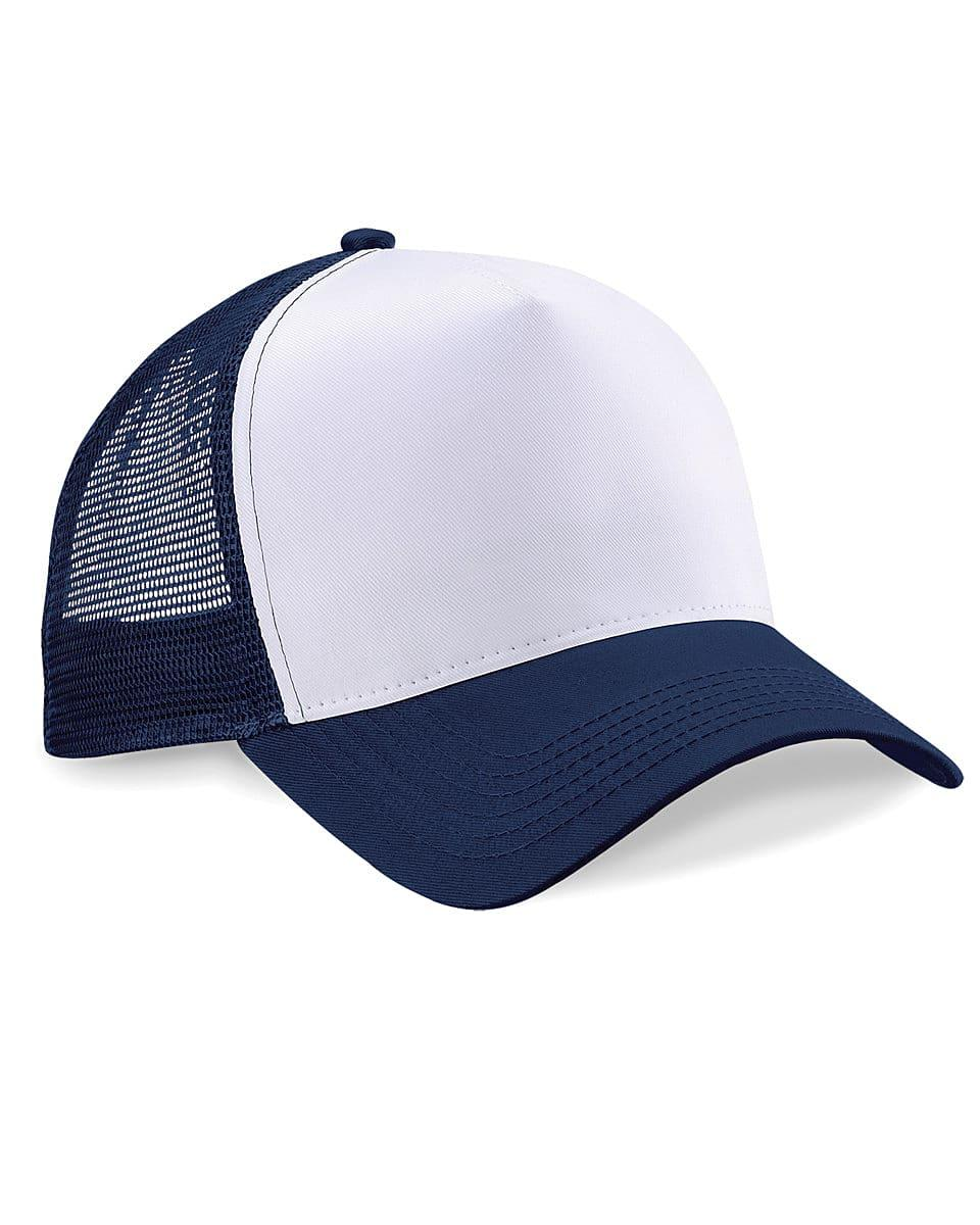 Beechfield Snapback Trucker Cap in French Navy / White (Product Code: B640)