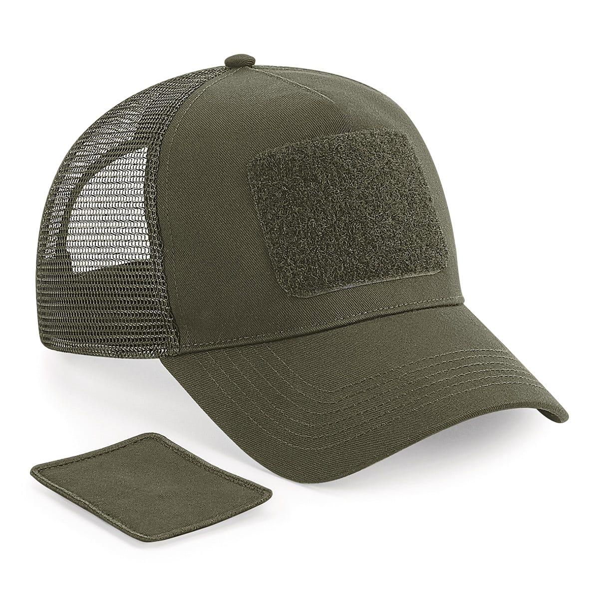 Beechfield Patch Snapback Trucker Cap in Military Green (Product Code: B641)