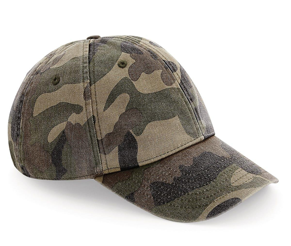Beechfield Low Profile Vintage Cap in Vintage Jungle Camo (Product Code: B655)