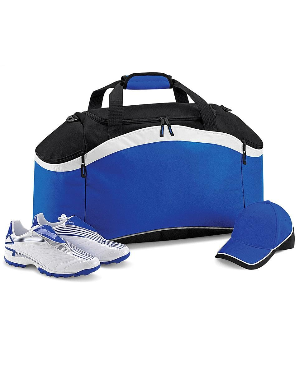 Bagbase Teamwear Holdall in Bright Royal / Black / White (Product Code: BG572)