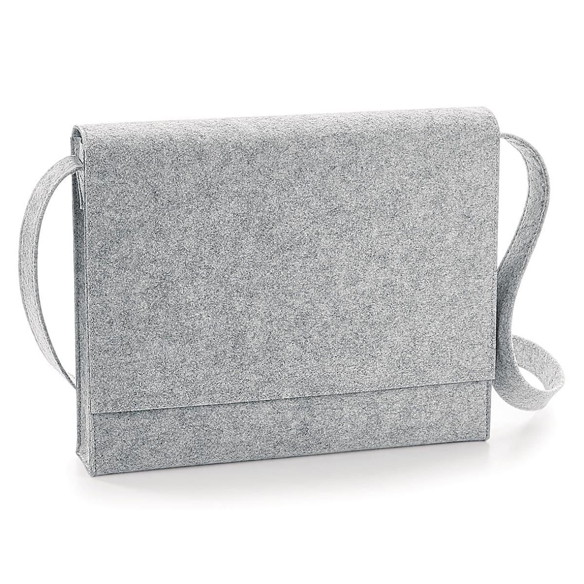 Bagbase Felt Messenger in Grey Melange (Product Code: BG730)