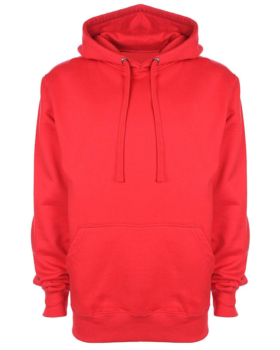 FDM Unisex Tagless Hoodie in Fire Red (Product Code: TH001)