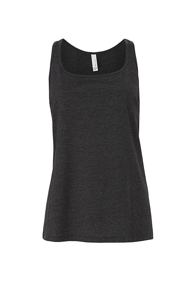 Bella Womens Relaxed Jersey Tank in Dark Grey Heather (Product Code: BE6488)