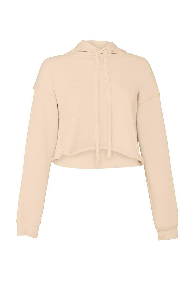 Bella+Canvas Womens Cropped Fleece Hoodie in Heather Dust (Product Code: BE7502)