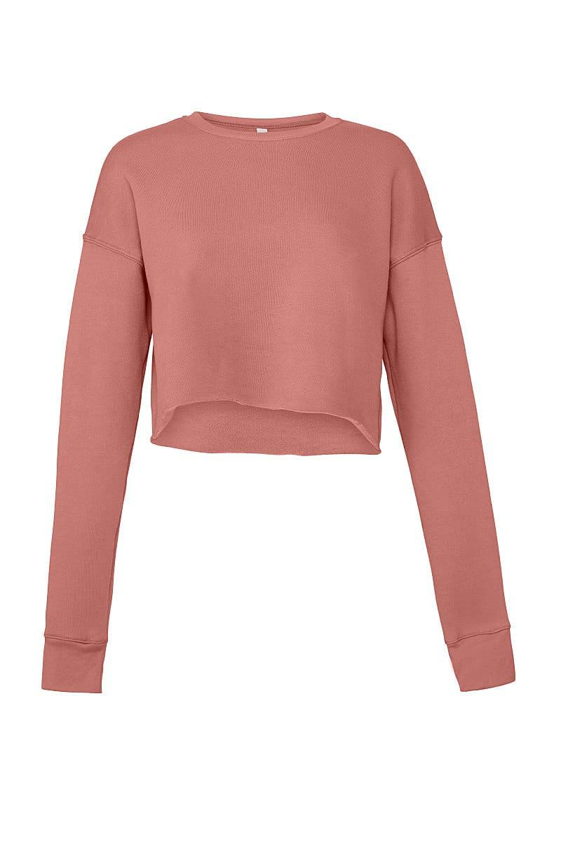 Bella+Canvas Womens Cropped Fleece Crew in Mauve (Product Code: BE7503)