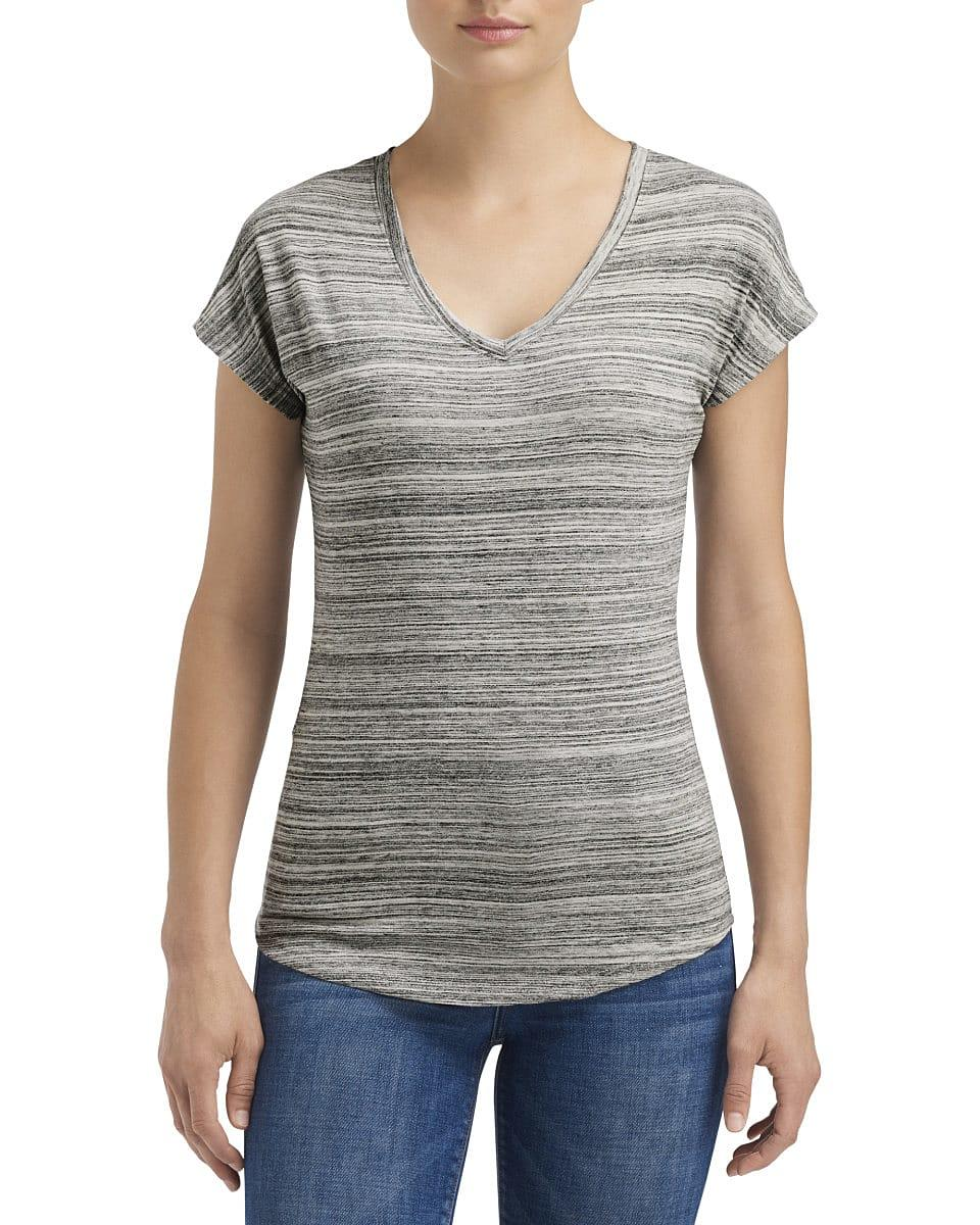 Anvil Womens Streak T-Shirt in ID Silver (Product Code: 675VIDL)
