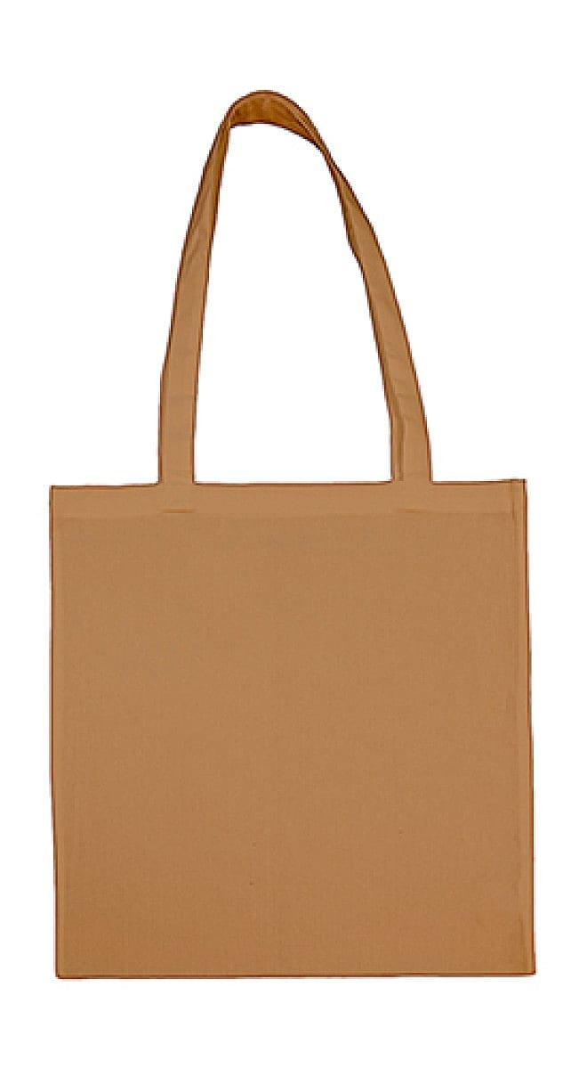 Jassz Bags Beech Cotton Long-Handle Bag in Iced Coffee (Product Code: 3842LH)
