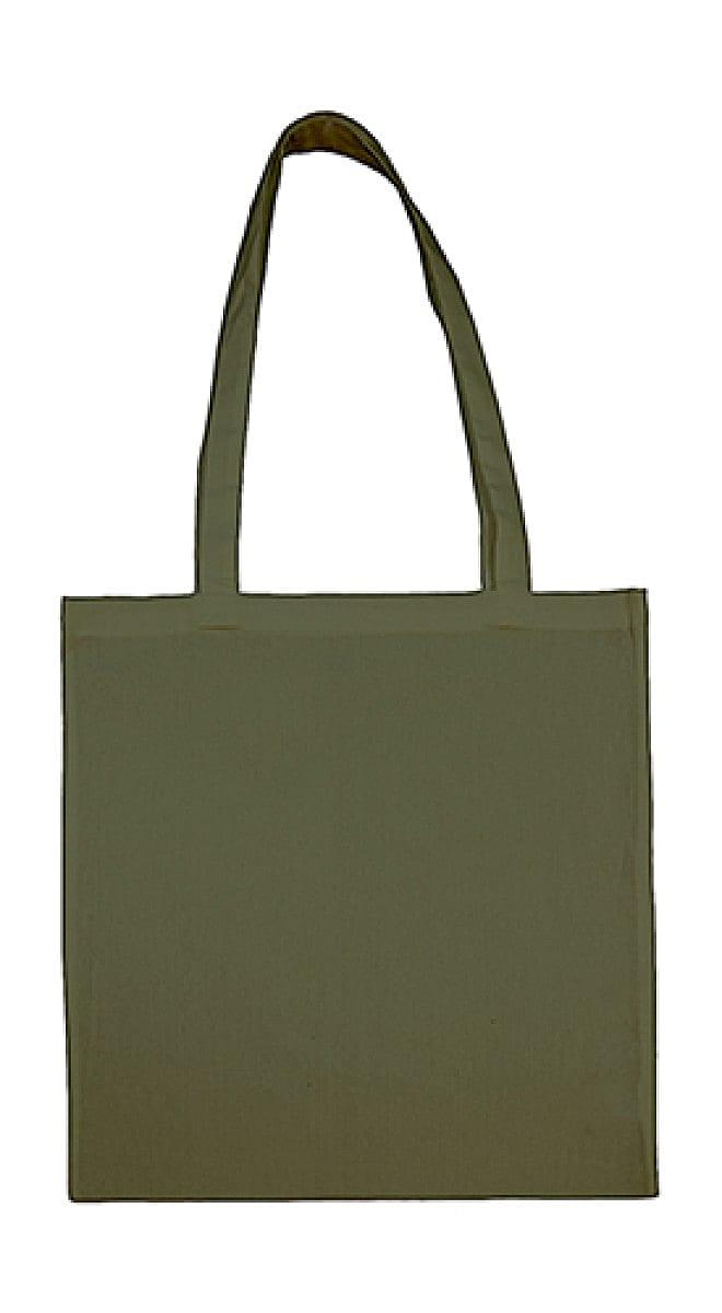 Jassz Bags Beech Cotton Long-Handle Bag in Military Green (Product Code: 3842LH)