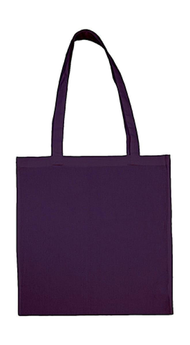 Jassz Bags Beech Cotton Long-Handle Bag in Purple (Product Code: 3842LH)