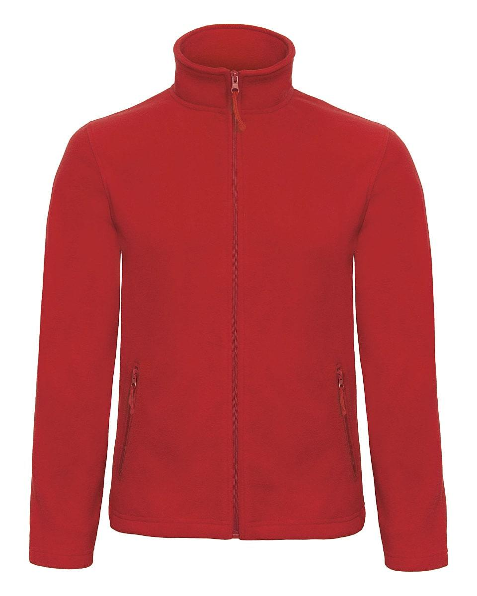 B&C Mens ID.501 Fleece Jacket in Red (Product Code: FUI50)