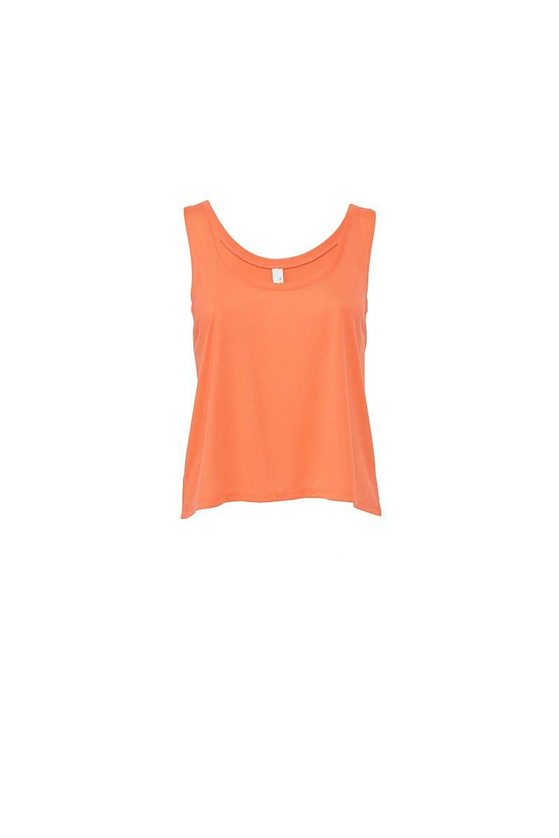Bella Womens Flowy Boxy Tank in Coral (Product Code: BE8880)