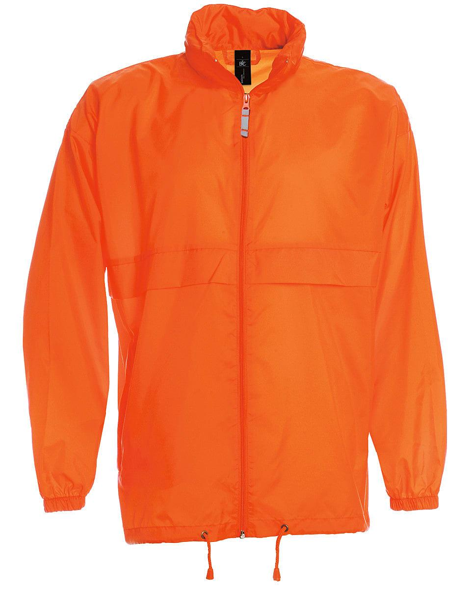 B&C Mens Sirocco Lightweight Jacket in Orange (Product Code: JU800)