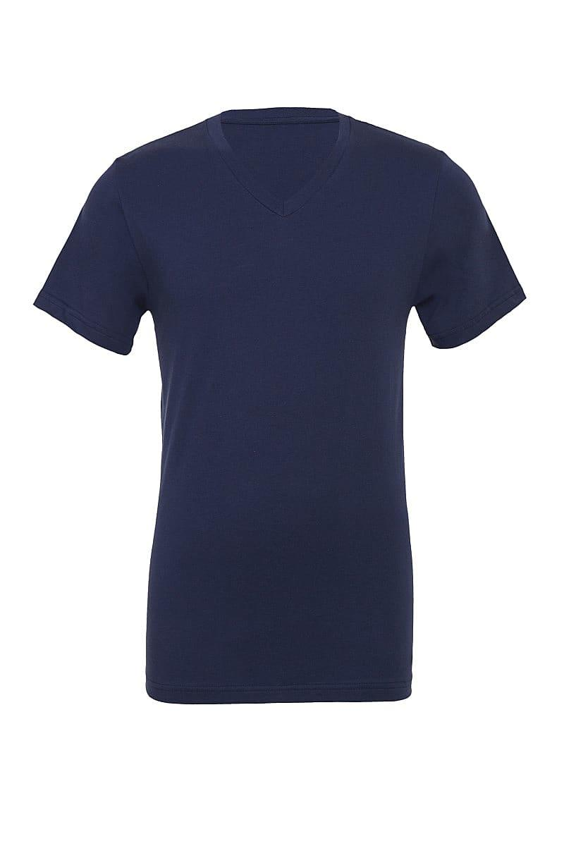 Bella Canvas Mens Jersey Short-Sleeve Vneck T-Shirt in Navy Blue (Product Code: CA3005)