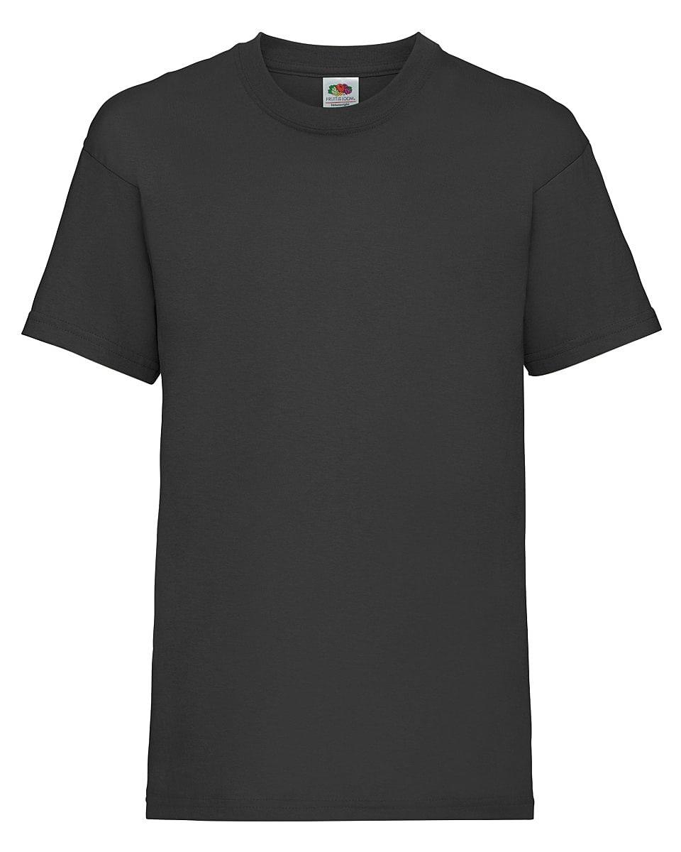 Fruit Of The Loom Childrens Valueweight T-Shirt in Black (Product Code: 61033)