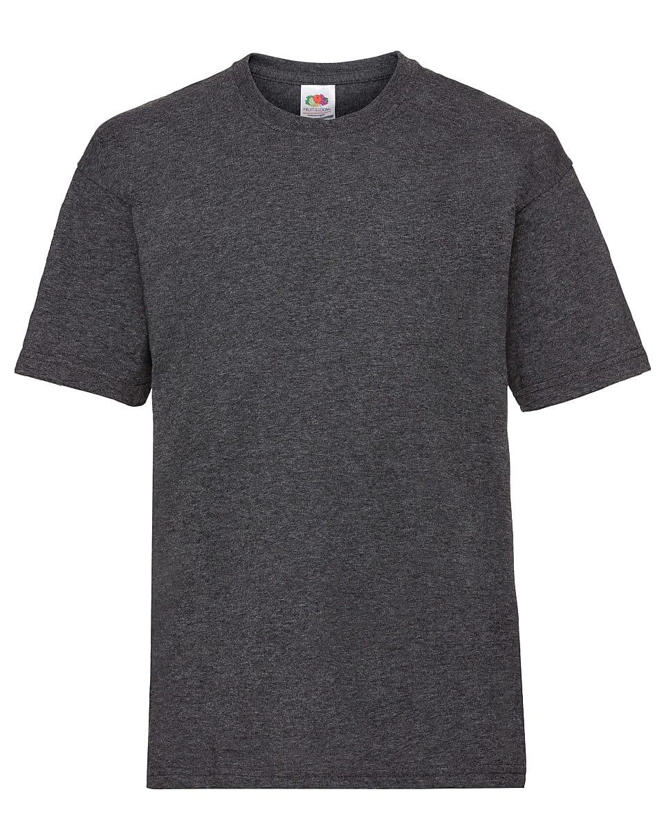 Fruit Of The Loom Childrens Valueweight T-Shirt in Dark Heather (Product Code: 61033)