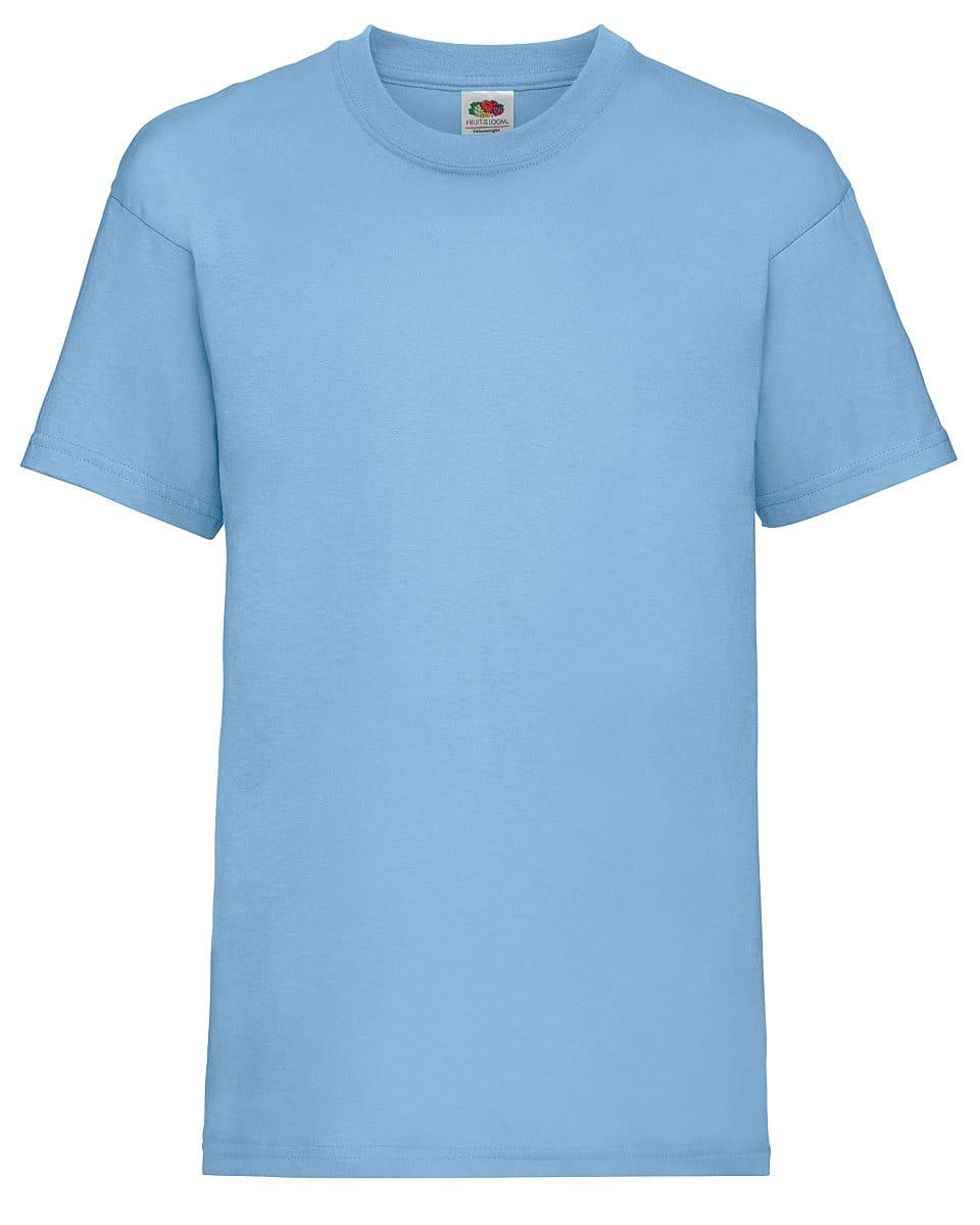 Fruit Of The Loom Childrens Valueweight T-Shirt in Sky Blue (Product Code: 61033)